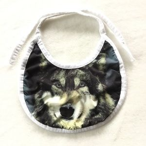 Free with purchase 🌟 wolf bib for baby